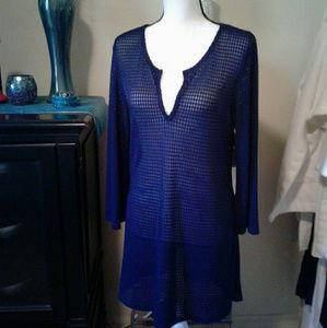 Open knit tunic/cover up